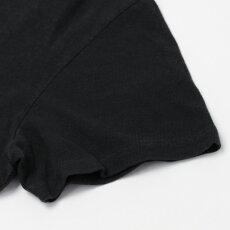 新作REMIRELIEF(レミレリーフ)/19/-リサイクル天竺スペシャル加工プリントTシャツ【オートミール/ブラック】【送料無料】