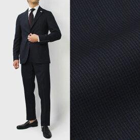 【国内正規品】【SALE30】S/S 新作 LARDINI ( ラルディーニ ) / JP031AQ / Easy Wear / パッカブル / ウール ピンチェック 撥水ストレッチ スーツ【ネイビー】【送料無料】