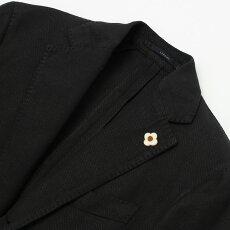 【国内正規品】S/S新作LARDINI(ラルディーニ)/JP0319AQ/EXCLUSIVE/コットンナイロン製品染め3B段返り2パッチシングルジャケット【ブラック】【送料無料】