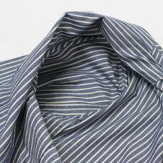 【国内正規品】S/S新作LARDINI(ラルディーニ)/JPCM25/コットンストライプ3釦3パッチ製品洗い加工シャツジャケット【ブルー】【送料無料】