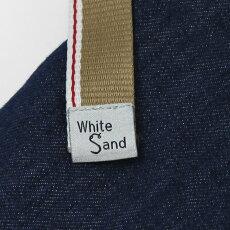 【国内正規品】S/S新作WhiteSand(ホワイトサンド)/19SU66/コットンリネンライトデニムパンツ【インディゴ】【送料無料】