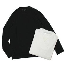 オリジナル ヴィンテージ スタイル / ORIGINAL VINTAGE STYLE / ロングスリーブ Tシャツ / ソフト コットン / OMEGA 439【ホワイト/ブラック】【SALE30】
