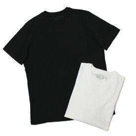 オリジナル ヴィンテージ スタイル / ORIGINAL VINTAGE STYLE / Tシャツ / 製品染め コットン クルーネック 裏ポケット / JOHN 436【ホワイト/ブラック】【SALE30】
