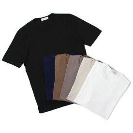 グランサッソ / GRANSASSO / クルーネック ニット Tシャツ / 12G ソフト コットン / 58138【ホワイト/ベージュ/グレージュ/ライトブラウン/ネイビー/ブラック】【SALE 30】