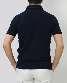 クルチアーニ/Cruciani/ポロシャツ/コットン鹿の子半袖/JU1371【ホワイト/ネイビー/ブラック】