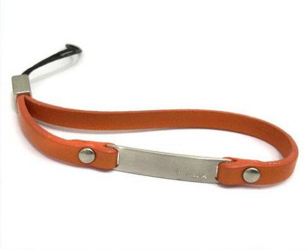 PRADA プラダ ロゴ ストラップ レザー オレンジ 携帯ストラップ カメラ スマホアクセサリー 1AR099【中古】【あす楽対応】
