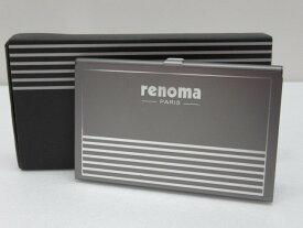 レノマ renoma 名刺入れ カードケース ミラー付き 〇YR-1921〇