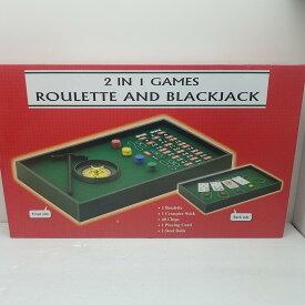 2IN1GAME ルーレット&ブラックジャック パーティーゲーム 未開封 〇YR-05365〇