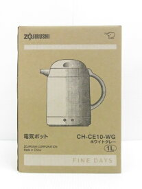 象印 電気ポット CH-CE10 ホワイトグレー 1リットル 2019年製 ○YR-10854○