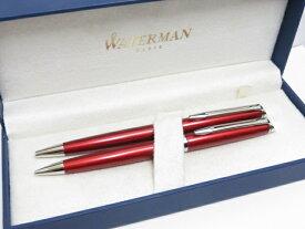 【中古品】 ウォーターマン WATERMAN メトロポリタン ボールペン・シャープペンセット レッド 〇YR-11556〇