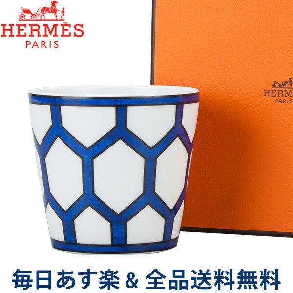 [全品送料無料] エルメス Hermes ブルーダイユール キャンドルタンブラー キャンドルカップ 130059P ホワイト / ブルー Bleu d'Ailleurs White/Blue キャンドル インテリア