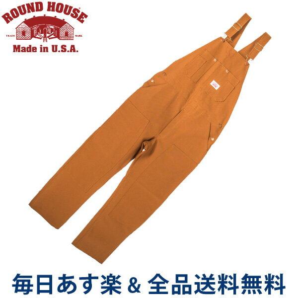 [全品送料無料]正規販売店 ラウンドハウス Round House #83 デニム オーバーオール ブラウンダック メンズ ブラウン Men's Brown Duck Bib Overalls ビブ