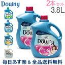 【あす楽】[全品送料無料] Downy ダウニー P&G ウルトラダウニー 3.8L 2本セット DOWNY US 柔軟剤 濃縮 アロマ 洗濯