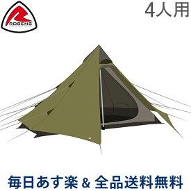 [全品送料無料]ローベンス Robens テント 4人用 グリーンコーン 4 130253 Green Cone 4 Trail Tents キャンプ アウトドア 野外 ティピー トレイルシリーズ あす楽