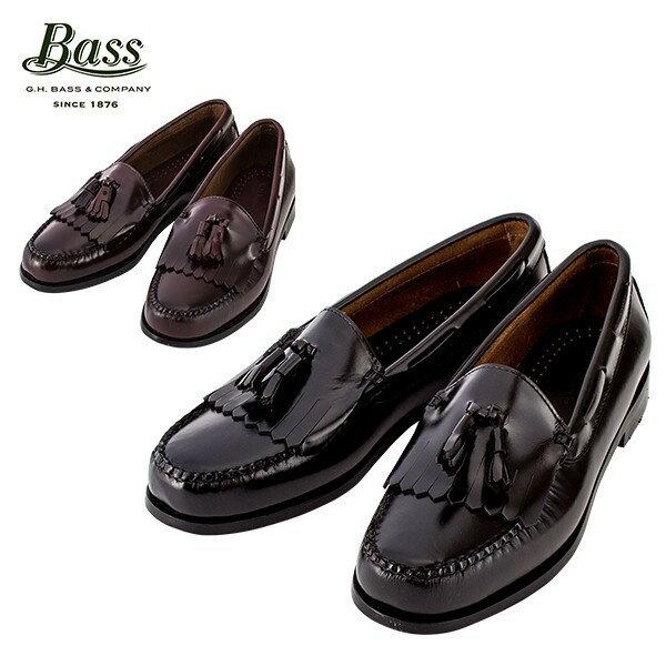 [全品送料無料]G.H.BASS G.H.バス LAYTON レイトン ブラック/バーガンティ ローファー 革靴