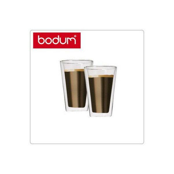 [全品送料無料]Bodum ボダム キャンティーン ダブルウォールグラス クリア 10110-10US Pint Glass 2個セット Canteen Double Wall Cooler 0.4L 北欧 新生活