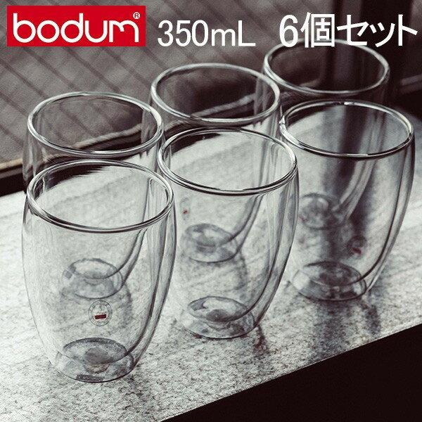 【全品3%OFFクーポン】[全品送料無料]ボダム グラス ダブルウォールグラス パヴィーナ 6個セット 350mL タンブラー 保温 保冷 クリア 4559-10-12US bodum Double Wall Glass Pavina Gift Set (SET of 6) Medium, 0/35L, 12oz ビール 新生活