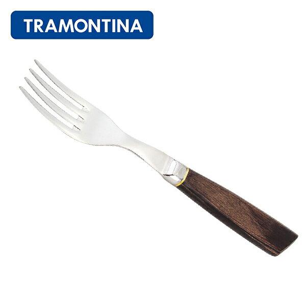 [全品送料無料]トラモンティーナ Tramontina テーブルフォーク フォージド 21.5cm ポリウッド 食洗機対応 21572/090 ダークブラウン JUMBO FORK 木製ハンドル フォーク 新生活
