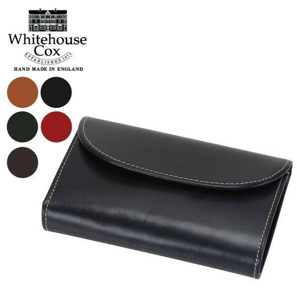 [全品送料無料]Whitehouse Cox ホワイトハウスコックス 3 Fold Purse CLOSE 14cm × 9.5cm OPEN 14cm × 25cm S7660 財布
