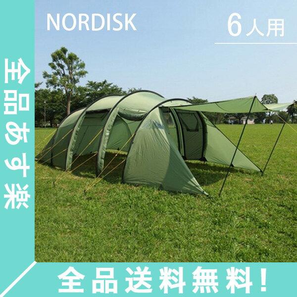 [全品送料無料]ノルディスク レイサ6 テント 6人用 タープ アウトドア キャンプ ダスティーグリーン 122032 NORDISK Leisure Tents & Tarps Reisa 6