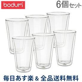 【2点200円OFF】[全品送料無料] ボダム Bodum グラス キャンティーン ダブルウォールグラス 400mL 6個セット 耐熱 保温 保冷 10110-10-12 Double Wall Cooler Canteen