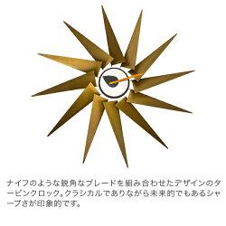 ヴィトラVitra掛け時計ウォールクロックTurbineClock(タービンクロック)20125501ブラス】アルミWallClocksデザインインテリアおしゃれ
