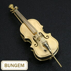 楽器GAKKI チェロ(ヴィオロンチェロ・セロ・cello) ブローチ 18金イエローゴールド K18/プラチナ PT900 裏側まで美しい傑作品 /黄(イエロー)/セレクトジュエリー・新品/届10/1点もの