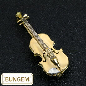 楽器GAKKI ヴァイオリン(バイオリン violin) ブローチ 18金イエローゴールド K18/プラチナ PT900 小さな芸術品 /黄(イエロー)/セレクトジュエリー・新品/届10/ラックジュエル luckjewel/1点もの