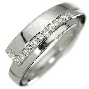 ダイヤモンド リング/指輪 プラチナ900 PT900 肉厚 鏡面にダイヤが美しく艶めく /白・透明(ホワイト)/アウトレット・新品/届10/1点もの