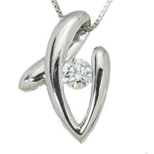 ダイヤモンド ネックレス 0.44カラット プラチナ PT900/PT850 どっしり肉厚 たっぷりプラチナ /白・透明(ホワイト)/アウトレット・新品/届10/1点もの