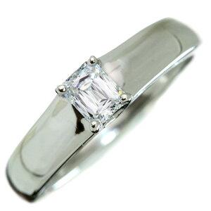 【最大20%OFFクーポン配布中】ダイヤモンド リング/指輪 0.30カラット プラチナ950 PT950 ソリティア 角ダイヤ 肉厚 /白・透明(ホワイト)/アウトレット・新品/届10/ラックジュエル luckjewel/1点もの