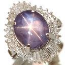 【価格交渉受付中!】スターサファイヤ リング/指輪 10.410カラット プラチナ900 PT900 バレリーナスタイル豪華ダイヤ…