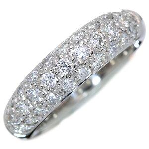 ダイヤモンド リング/指輪 0.70カラット プラチナ900 PT900 パヴェ びっしり3列 膨らみ 肉厚 /白・透明(ホワイト)/アウトレット・新品/届10/ラックジュエル luckjewel/1点もの