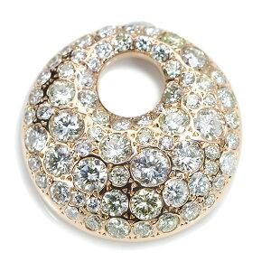 ダイヤモンド ペンダントトップ 2.390カラット 18金ピンクゴールド K18PG たっぷり肉厚&たっぷりダイア 照り抜群のダイヤ2カラット超 /多彩(マルチ)/アウトレット・新品/届10/ラックジュエル