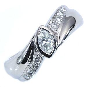 ダイヤモンド リング/指輪 0.280カラット プラチナ900 PT900 マーキスカットの存在感 肉厚 /白・透明(ホワイト)/アウトレット・新品/届10/ラックジュエル luckjewel/1点もの