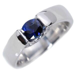 サファイヤ リング/指輪 0.480カラット プラチナ900 PT900 個性的セッティング かなり肉厚 /青(ブルー)/アウトレット・新品/届10/ラックジュエル luckjewel/1点もの