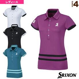 ポロシャツ/レディース(SDP-1666W)《スリクソン テニス・バドミントン ウェア(レディース)》テニスウェア女性用