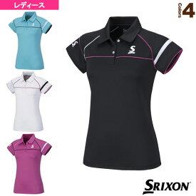 ポロシャツ/レディース(SDP-1667W)《スリクソン テニス・バドミントン ウェア(レディース)》テニスウェア女性用