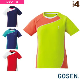 ゲームシャツ/レディース(T1709)《ゴーセン テニス・バドミントン ウェア(レディース)》バドミントンウェア女性用