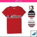 Tシャツ/レディース(BAB-8734W)《バボラ テニス・バドミントン ウェア(レディース)》