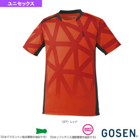 ゲームシャツ/ユニセックス(T1726)《ゴーセン テニス・バドミントン ウェア(メンズ/ユニ)》