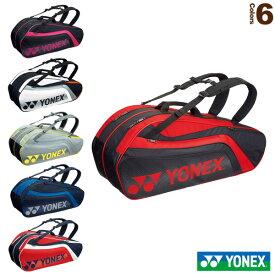 ラケットバッグ6/リュック付/テニス6本用(BAG1812R)《ヨネックス テニス バッグ》