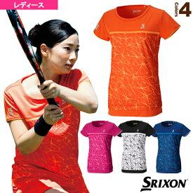 ゲームシャツ/レディース(SDP-1763W)《スリクソン テニス・バドミントン ウェア(レディース)》テニスウェア女性用