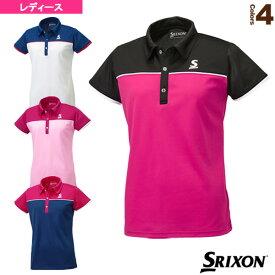 ポロシャツ/レディース(SDP-1767W)《スリクソン テニス・バドミントン ウェア(レディース)》テニスウェア女性用