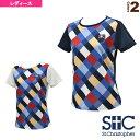 ブロックチェック ゲームTシャツ/レディース(STC-AGW6033)《セントクリストファー テニス・バドミントン ウェア(レディース)》