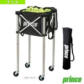 ボールバスケット/3段階高さ調整機能ロックピンキャスター付(PL065)《プリンス テニス コート用品》カートボールカゴ