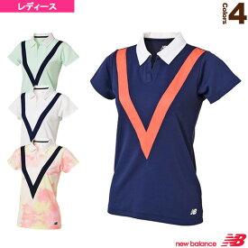 スキッパー ゲームシャツ/レディース(JWTT8017)《ニューバランス テニス・バドミントン ウェア(レディース)》