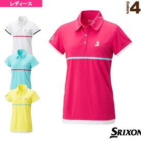 ポロシャツ/レディース(SDP-1828W)《スリクソン テニス・バドミントン ウェア(レディース)》テニスウェア女性用
