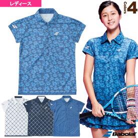 ゲームシャツ/カラープレイライン/レディース(BTWLJA14)《バボラ テニス・バドミントン ウェア(レディース)》