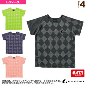 ゲームシャツ/襟なし/JTTA公認マーク付/レディース(XLH-227xP)《ルーセント 卓球 ウェア(レディース)》